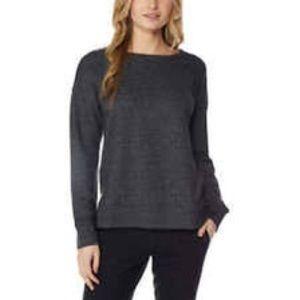 32 Degrees Ladies Fleece Charcoal Gray Long Sleeve